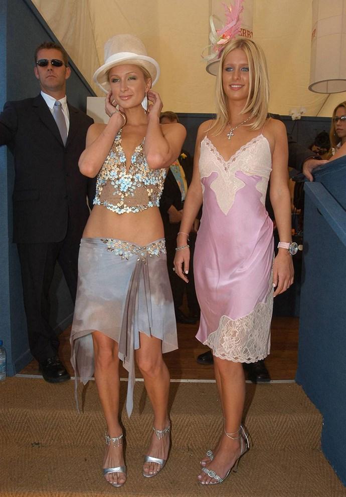 Paris and Nicky Hilton, 2003.