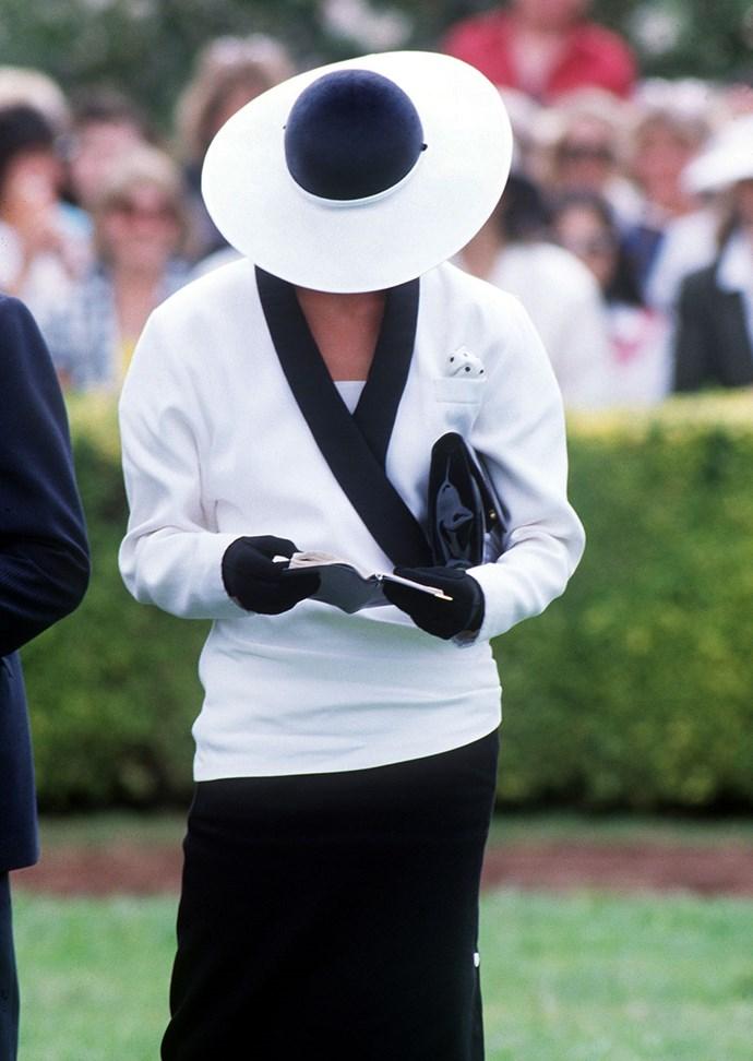 Princess Diana, 1985.
