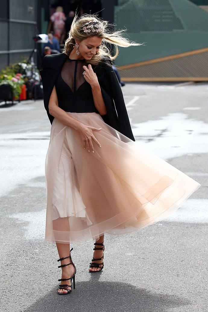 """Jennifer Hawkins, 2017. <br><br>*Brought to you by [Victoria Racing Club](https://goo.gl/GLah5d target=""""_blank"""" rel=""""nofollow"""")*"""