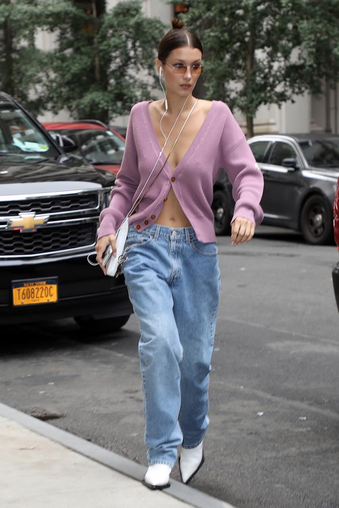 Bella Hadid at New York fashion week spring summer '19.