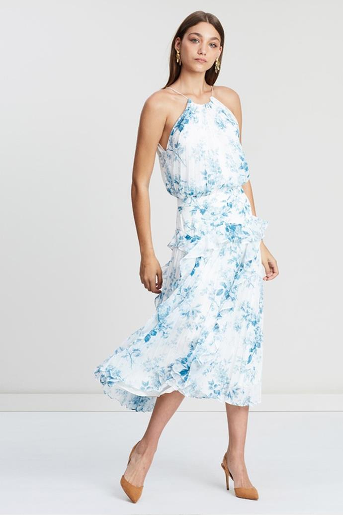 """Lover Dress, $500 at [The Iconic](https://www.theiconic.com.au/dusk-pleat-midi-dress-652403.html