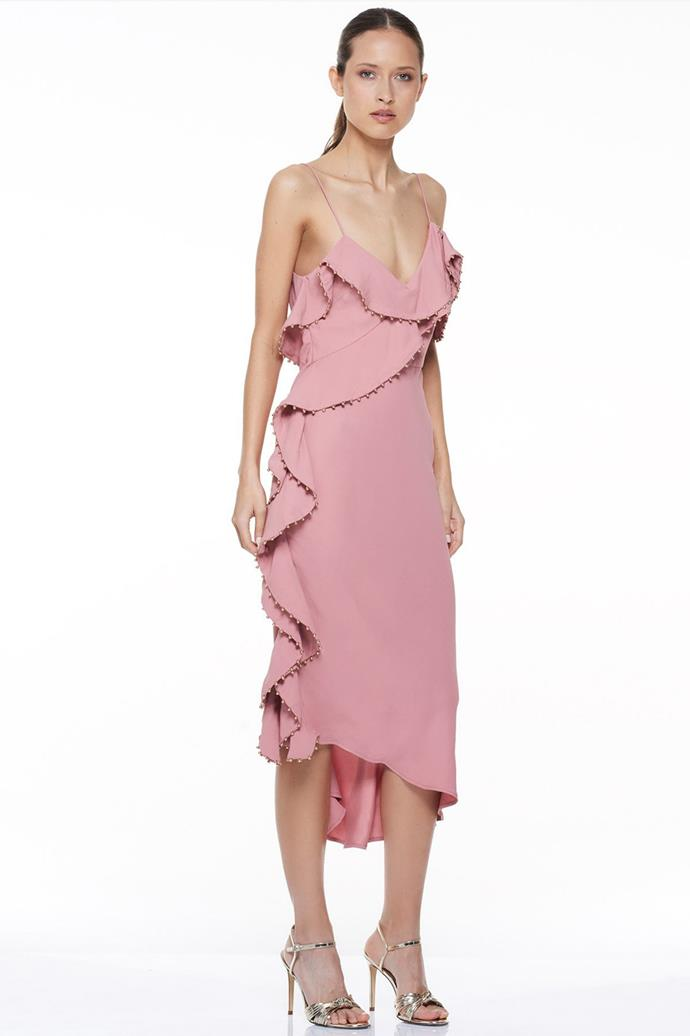 """Rare Beauty Midi Dress, $209 at [Talulah](https://www.talulah.com.au/collections/dresses/products/rare-beauty-midi-dress-1?variant=5113980125221