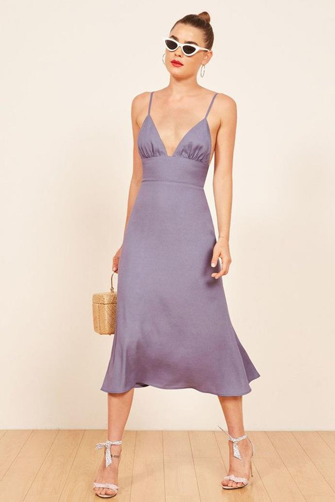 """Reformation Dress, $458 at [Farfetch](https://www.farfetch.com/au/shopping/women/reformation-talita-midi-dress-item-13131321.aspx?storeid=9359
