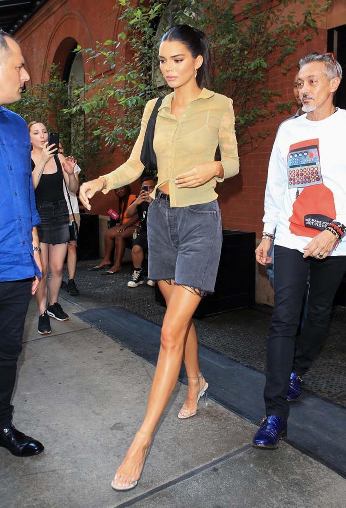Kendall Jenner at New York Fashion Week spring/summer '19