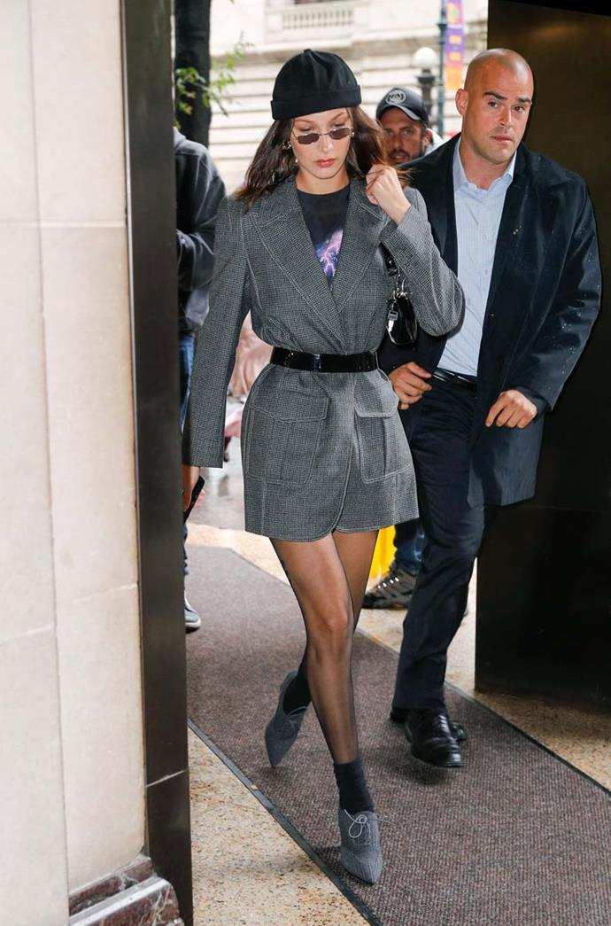 Bella Hadid at New York Fashion Week spring/summer '19