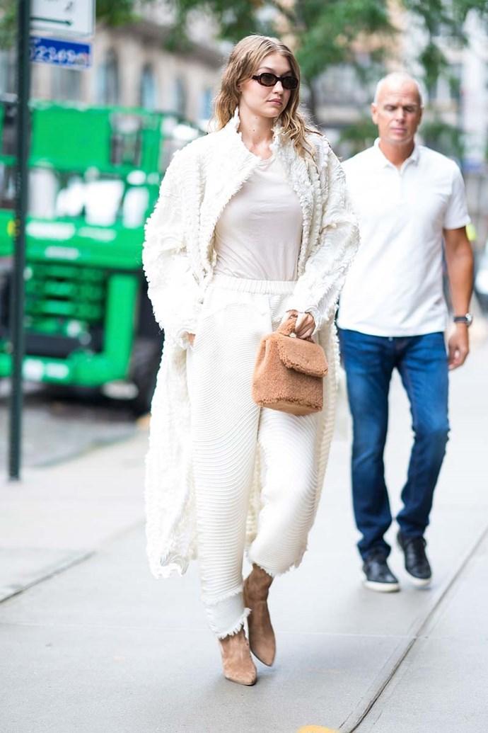 Gigi Hadid at New York Fashion Week spring/summer '19