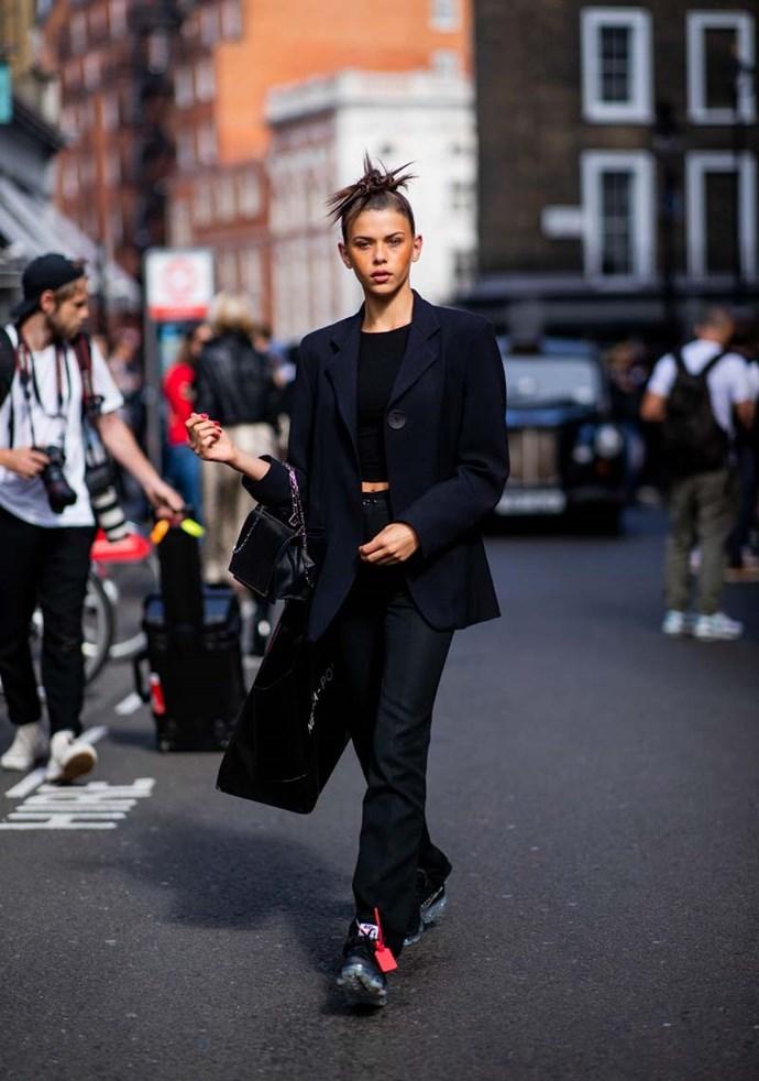 Georgia Fowler at London Fashion Week spring/summer '19