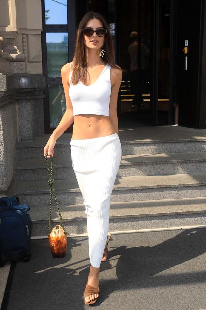 Emily Ratajkowski at Milan Fashion Week spring/summer '19