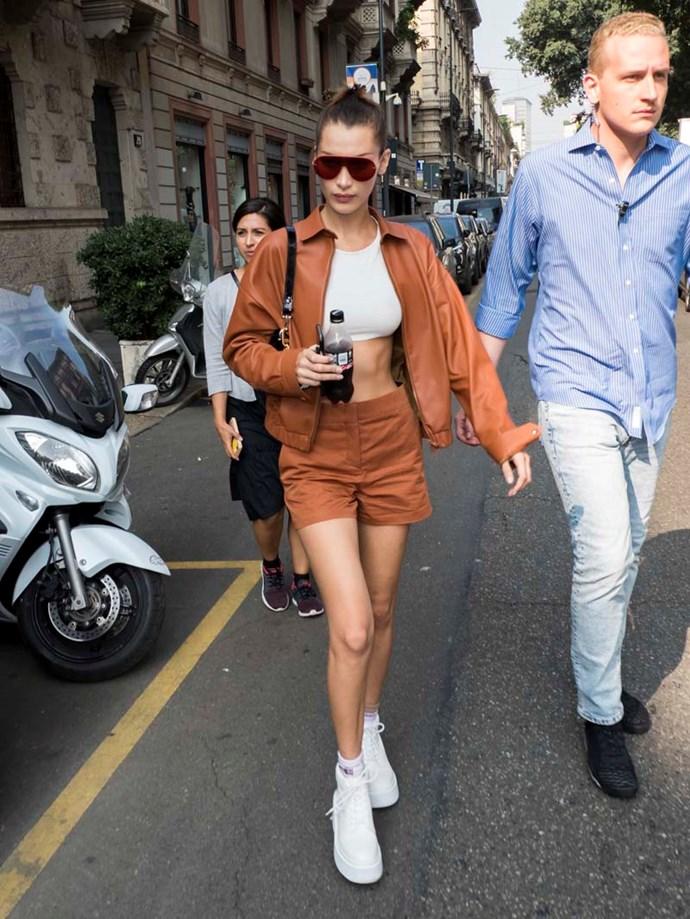 Bella Hadid at Milan Fashion Week spring/summer '19