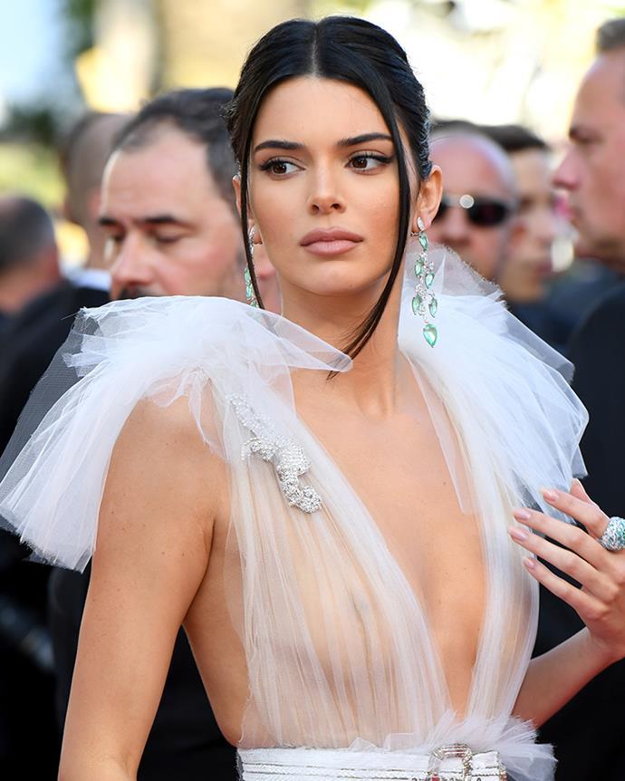 In Schiaparelli at the Cannes Film Festival, 2018.