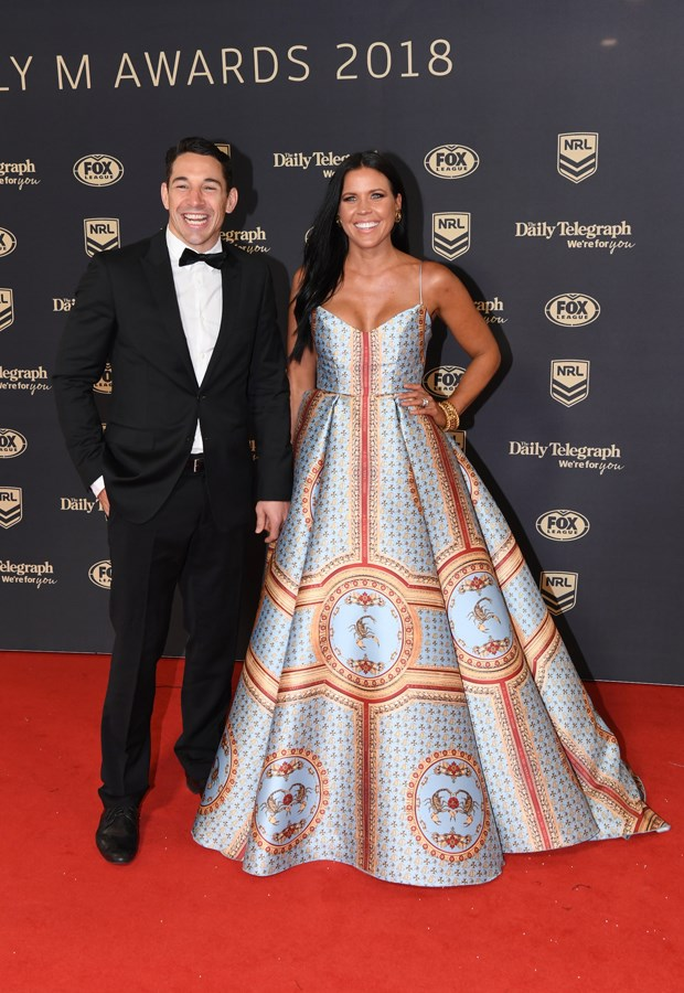 Billy Slater and Nicole Slater.