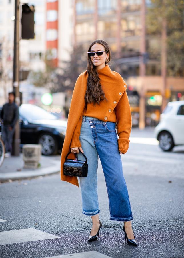 The orange sweater.