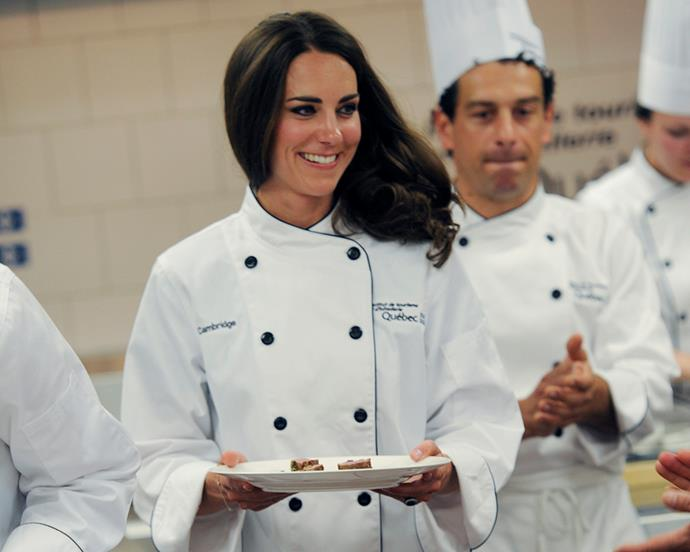 "***Foie Gras*** <br> Whether you love or you hate foie gras—the upper-class dish consisting of goose or duck liver—you definitely won't be consuming it if you're a royal.  <br><br> According to [*Stylecaster*](http://stylecaster.com/meghan-markle-banned-foods-royals/#slide-8|target=""_blank""), foie gras was banned by Prince Charles in 2008 due to its cruel preparation processes, and won't likely be seen on the menu at any royal events."