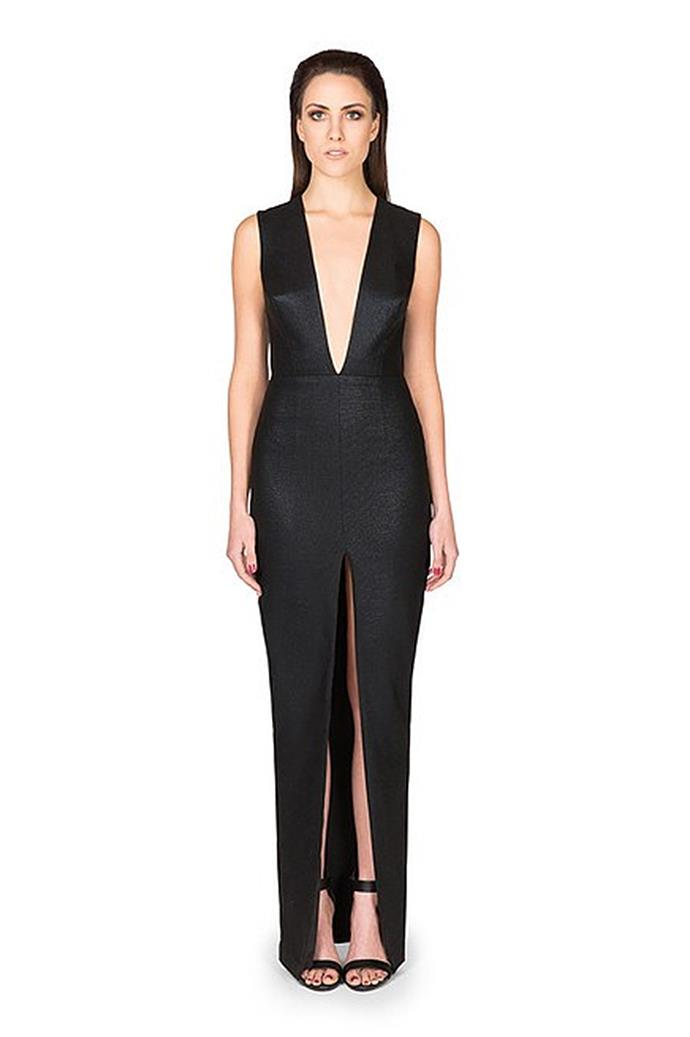 """Brittany wore the 'Limitless' dress by Lexi, rent from $95 at [My Dress Affair](https://www.mydressaffair.com.au/other-info-occasion/cocktail/limitless-dress-black-lexi