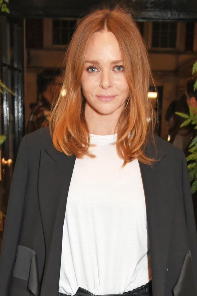 **Stella McCartney** <br><br> Fashion designer Stella McCartney does perfectly undone like a pro, courtesy of a thick tong and a little hairspray.