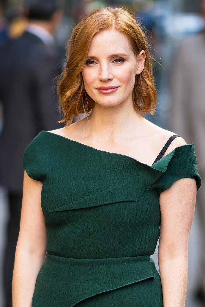**Jessica Chastain** <br><br> The soft strawberry-tinted red of Jessica Chastain's flowing curls means she makes a statement on the red carpet, no matter what she's wearing.
