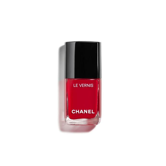 """<p><strong>Sophie Miura, syndication and bookings manager</strong></p> <p>""""It's the only red I've been able to find that's intense in colour and complements my olive skin. And it's perfect with strappy heels.""""</p> <p><em>Le Vernis in Rouge Puissant, $39, [Chanel](https://www.chanel.com/en_AU/fragrance-beauty/makeup/p/nails/nail-colour/le-vernis-longwear-nail-colour-p159500.html#skuid-0159528 target=""""_blank"""" rel=""""nofollow"""").</em></p>"""