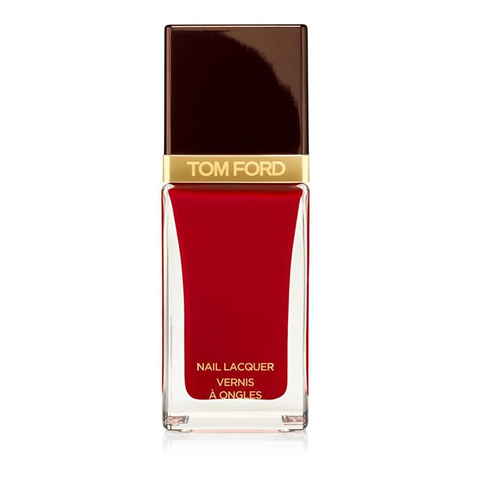 """<p><strong>Mahalia Chang, associate digital managing editor</strong></p> <p>""""Sexy, bold, and very look-at-me.""""</p> <p><em>Nail polish in Carnal Red, $37, [Tom Ford](https://www.tomford.com/nail-lacquer/T0TP.html?dwvar_T0TP_color=BLACKCHERRY#q=nail&start=1 target=""""_blank"""" rel=""""nofollow"""").</em></p>"""