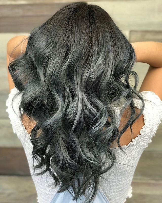 "**6. Charcoal Hair** <br><br> Image: [@hairbykellymorgan](https://www.instagram.com/p/BoFtoBPBuQV/?taken-by=hairbykellymoran|target=""_blank""|rel=""nofollow"")"