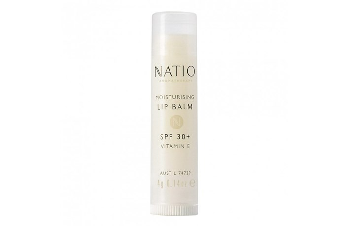 "**For the Beach: Natio Moisturising Lip Balm SPF 30+, $4.95 at [Priceline](https://www.priceline.com.au/natio-moisturising-lip-balm-spf-30-4-g|target=""_blank""