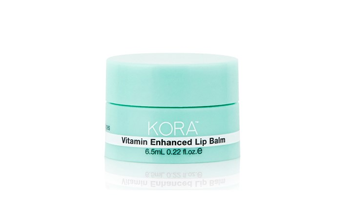 "**100% Vegan: Vitamin Enhanced Lip Balm, $24.95 at [Kora](https://koraorganics.com/products/vitamin-enhanced-lip-balm|target=""_blank""