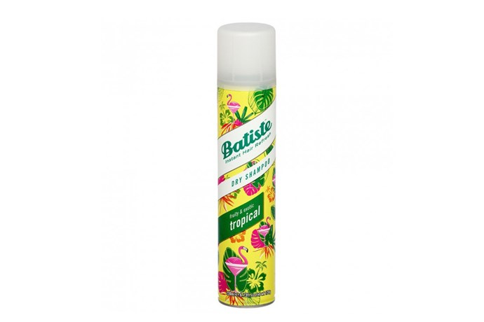 """**Dry shampoo Tropical by Batiste, $9.99 at [Priceline](https://www.priceline.com.au/brand/batiste/batiste-dry-shampoo-tropical-200-ml