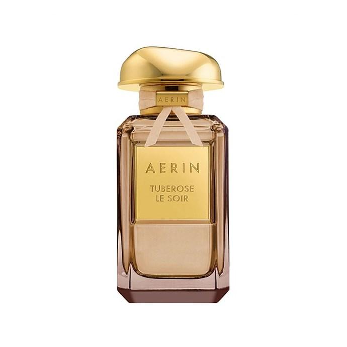 "**Aerin Tuberose Le Soir Parfum, $320 at [David Jones](https://www.davidjones.com/beauty/fragrance/womens-perfume/21213585/Tuberose-Le-Soir-Parfum.html target=""_blank"" rel=""nofollow"")**   <br><br>  **Top notes:** Tuberose, sparkling mandarin, bergamot, ylang ylang, sandalwood and vanilla."