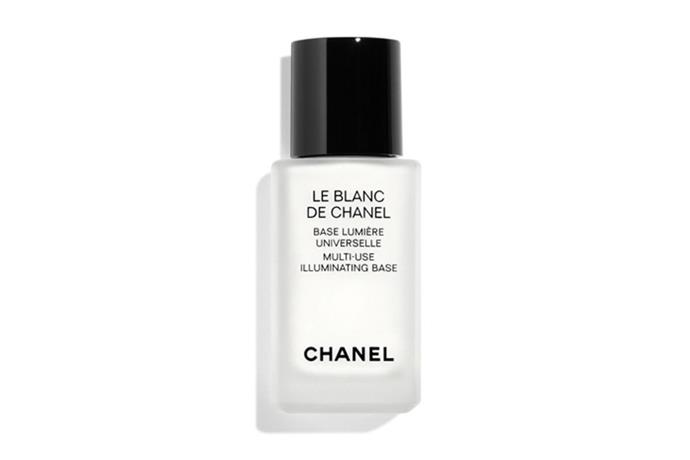 "**Le Blanc De Chanel Multi-use Illuminating Base by Chanel, $69 at [Myer](https://www.myer.com.au/shop/mystore/multi-use-illuminating-base-246538900|target=""_blank""