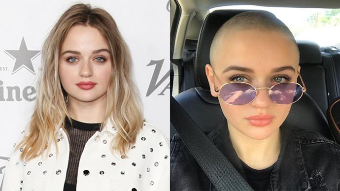Joey King just shaved her head for the third time for a role, this time in anticipation of her upcoming part as Gypsy Rose Blanchard.