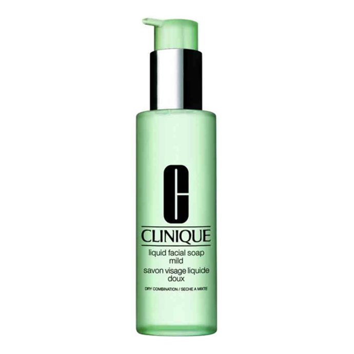 """**Liquid Facial Soap (Mild) by Clinique, $30.00 for 200mL at [Sephora](https://www.sephora.com.au/products/clinique-liquid-facial-soap-mild/v/200ml