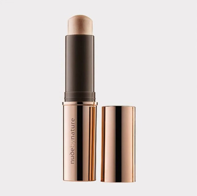 """Highlight Stick by Nude by Nature, $24.95 at [Target](https://www.target.com.au/p/nude-by-nature-touch-of-glow-highlight-stick/59554707 target=""""_blank"""" rel=""""nofollow"""")."""