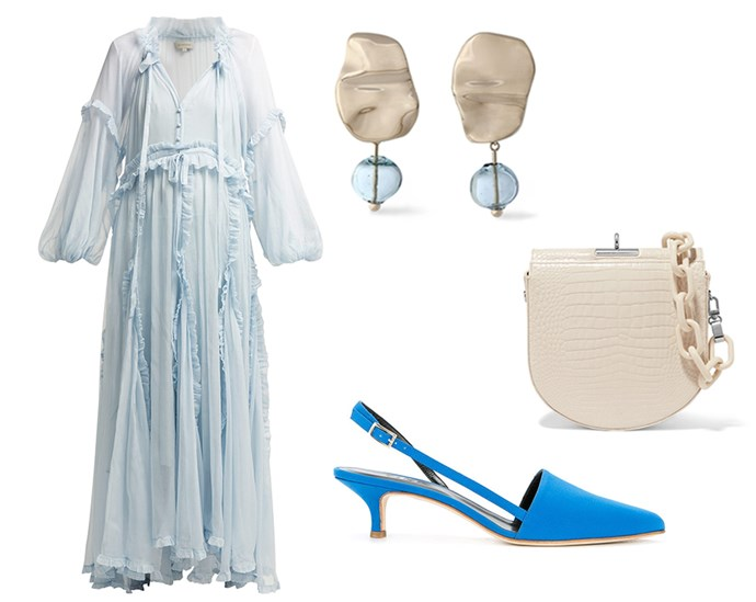 "Take your silly season style cues from *The Nutcracker*'s Land of Sweets and team romantic ruffles with pastel hues for a look that works both day and night. Acid blue pumps give the look a fresh kick. <br><br> Dress by Lee Mathews, $1,017 at [MATCHESFASHION.COM](https://www.matchesfashion.com/au/products/Lee-Mathews-Bluebell-ruffled-silk-dress-1234723|target=""_blank""