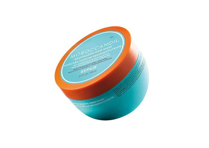 "**Restorative Hair Mask by Moroccanoil, $55.95 at [Adore Beauty](https://www.adorebeauty.com.au/moroccanoil/moroccanoil-restorative-hair-mask.html?.html|target=""_blank""