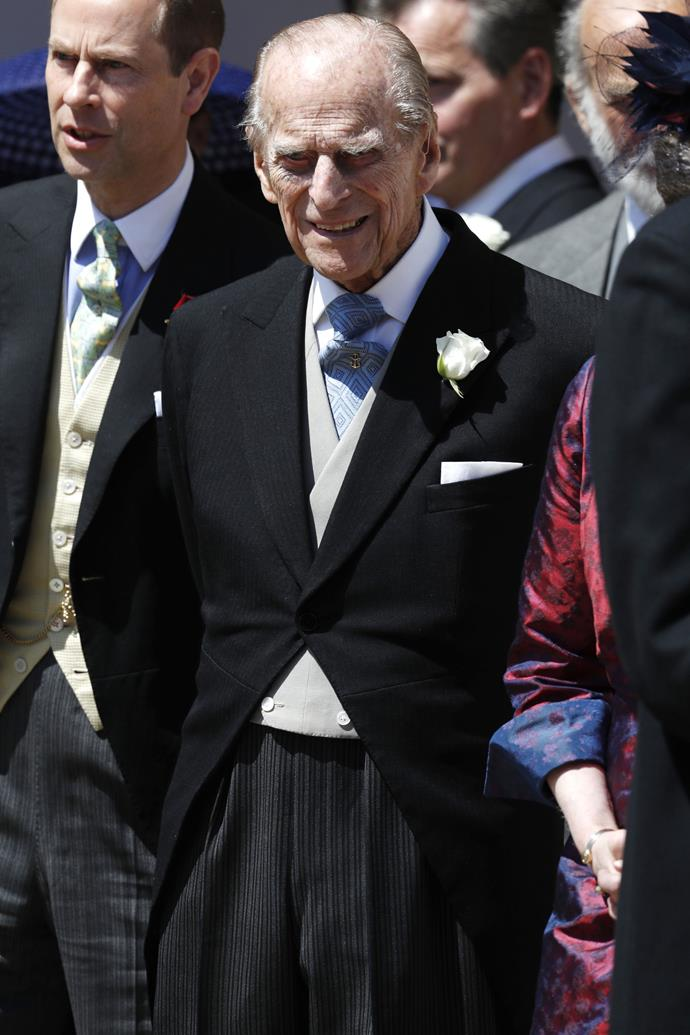 "**PRINCE PHILLIP** <br> According to recent reports, Prince Phillip may be absent from his granddaughter's nuptials, with sources saying he'll with sources saying he'll ""wake up and see how [he feels]."" <br><br> ""The Duke of Edinburgh may not go to the wedding, just as he and the Queen did not attend Prince Louis christening in July,"" a source close to the royal family told the UK's [*Daily Telegraph*](https://www.telegraph.co.uk/royal-family/2018/10/09/duke-edinburgh-will-decide-day-attends-royal-wedding/