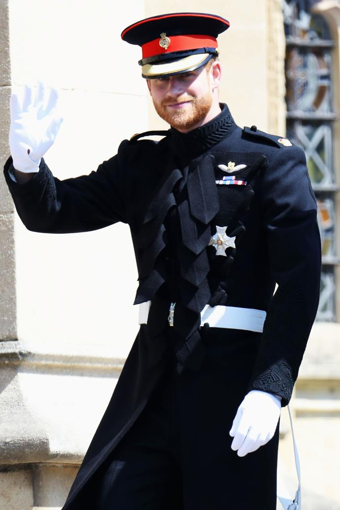 "**PRINCE HARRY** <br> While the Prince will be attending his cousin's wedding on Friday, October 12th at the same chapel he and his now-wife, Meghan Markle, wed, Harry will be [skipping out](https://www.elle.com.au/culture/meghan-harry-skip-princess-eugenie-wedding-18764|target=""_blank"") on the second day of Princess Eugenie and Jack Brooksbank's wedding celebrations.  <br><br> The soon-to-be-wed couple will be hosting [""festival and funfair""-themed party](https://www.harpersbazaar.com.au/bazaar-bride/princess-eugenie-beckhams-wedding-planner-17347