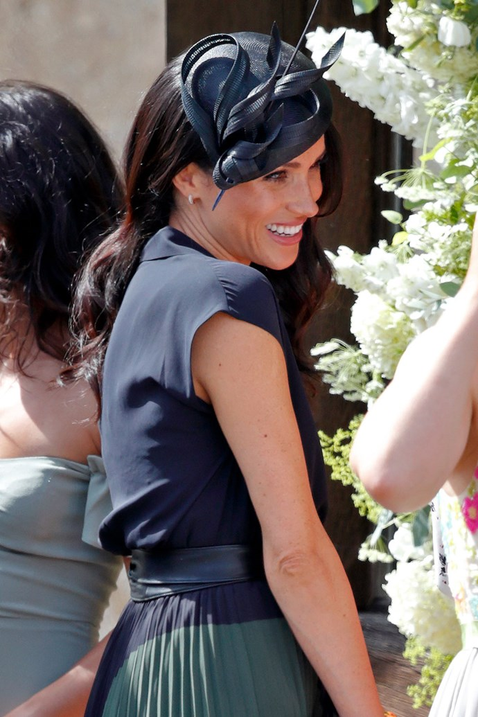 "**MEGHAN MARKLE** <br> As she will be accompanying Prince Harry on the same upcoming royal tour, the Duchess of Sussex [too will be absent](https://www.elle.com.au/culture/meghan-harry-skip-princess-eugenie-wedding-18764|target=""_blank"")  from Saturday's celebrations."