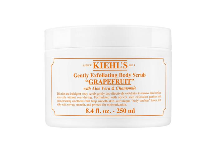 "**Gently Exfoliating Body Scrub, $36 at [Kiehl's](https://www.kiehls.com/body/body-wash-and-scrubs/gently-exfoliating-body-scrub/KHL476.html|target=""_blank""
