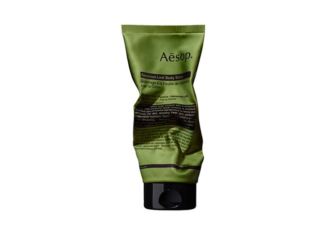 """**Geranium Leaf Body Scrub by Aesop, $39 at [Adore Beauty](https://www.adorebeauty.com.au/aesop/aesop-geranium-leaf-body-scrub.html?.html