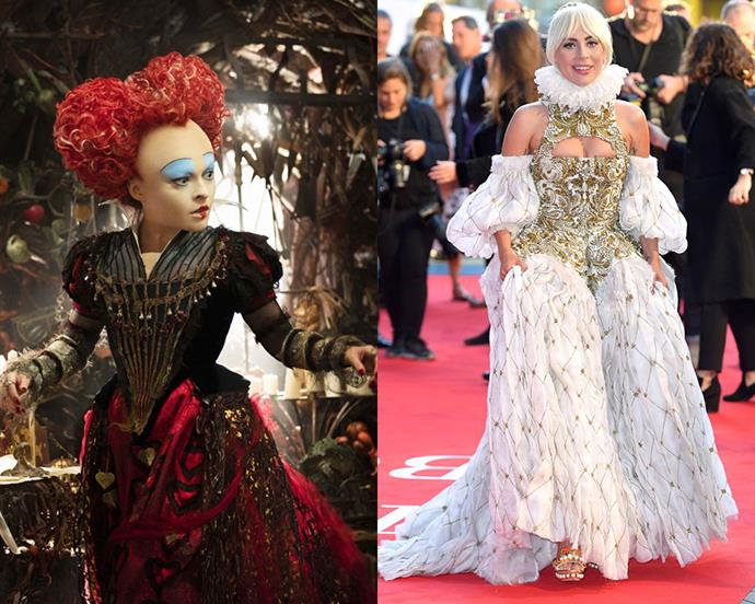 """To say Lady Gaga has had her fair share of statement-making style moments is an understatement, but it was her recent Alexander McQueen gown that delivered the singer one of her most iconic looks thus far. The Shakespearean-inspired design featured pearl beading, a gold-encrusted bodice and high ruffle neck. The ornate gown is an archival McQueen piece but had us thinking of the regal designs within *Alice Through the Looking Glass*. Is there any look Gaga can't do? <br><br> ***Brought to you by [Disney's The Nutcracker and the Four Realms](http://www.disney.com.au/movies/the-nutcracker-and-the-four-realms