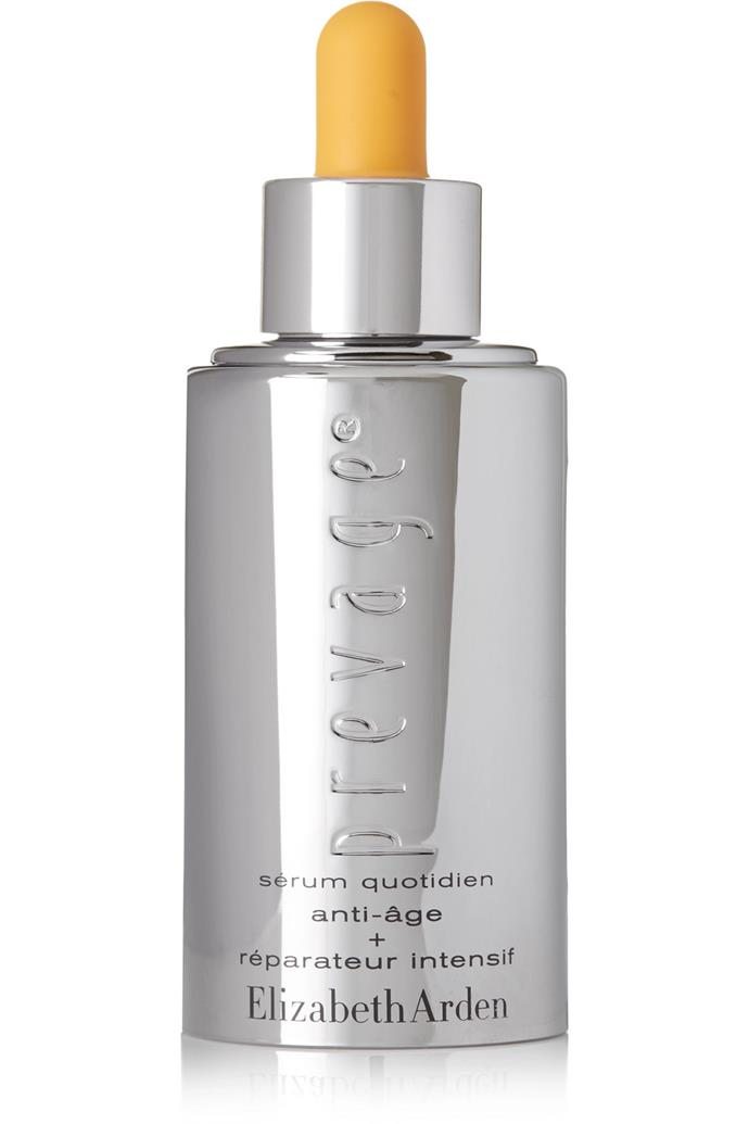 """By supporting the skin's natural collagen production, this serum smooths fine lines and wrinkles with long-term use.<br><br> Prevage Anti-Aging + Intensive Repair Daily Serum by Elizabeth Arden, $284 at [Net-a-Porter](https://www.net-a-porter.com/au/en/product/417419 target=""""_blank"""" rel=""""nofollow"""")."""