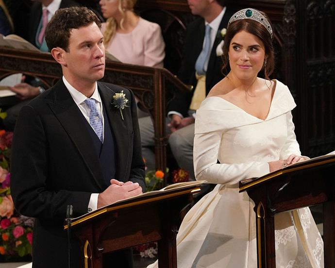 Princess Eugenie of York with her husband, Jack Brooksbank.
