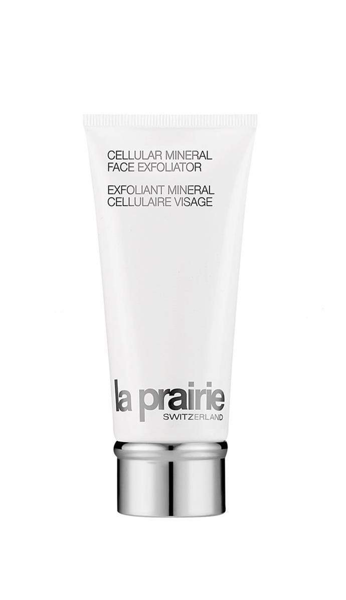"This gentle exfoliator diminishes the appearance of pores and even helps prevent breakouts.<br><br> Cellular Mineral Face Exfoliator, $190 at [La Prairie](https://www.laprairie.com.au/au/masks-exfoliators|target=""_blank""