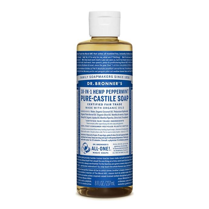 "Dr. Bronner's Peppermint Liquid Castile Soap, $12.95 at [David Jones](https://www.davidjones.com/beauty/bath-and-body/bath-and-shower/20199485/Liquid-Castile-Soap-237ml---Peppermint.html target=""_blank"" rel=""nofollow"")"