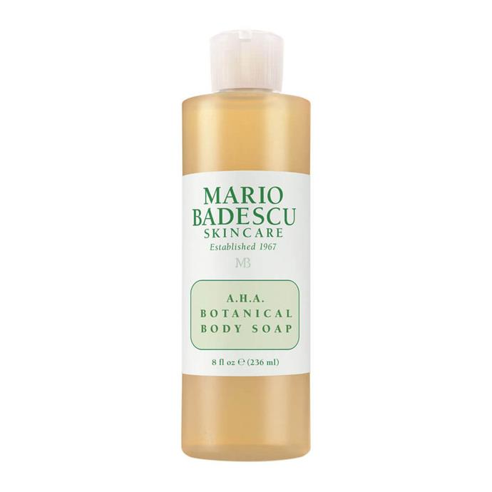 "Mario Badescu AHA Botanical Body Soap, $11 at [MECCA](https://www.mecca.com.au/mario-badescu/aha-botanical-body-soap/I-004669.html?cgpath=body-cleanser-washbathe|target=""_blank""