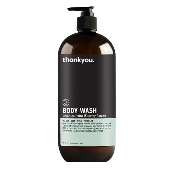 "Thankyou Botanical Mint & Spring Flowers Body Wash, $13.50 at [Nourished Life](https://www.nourishedlife.com.au/natural-soap-body-wash/1756316/thankyou-body-wash-botanical-mint-spring.html target=""_blank"" rel=""nofollow"")"