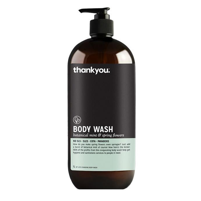 "Thankyou Botanical Mint & Spring Flowers Body Wash, $13.50 at [Nourished Life](https://www.nourishedlife.com.au/natural-soap-body-wash/1756316/thankyou-body-wash-botanical-mint-spring.html|target=""_blank""