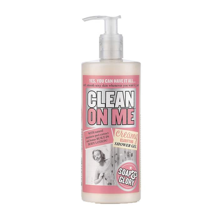 "Soap & Glory 'Clean On Me' Creamy Clarifying Shower Gel, $11 at [MECCA](https://www.mecca.com.au/soap-glory/clean-on-me-creamy-clarifying-shower-gel/V-008916.html?cgpath=body-cleanser-washbathe|target=""_blank""