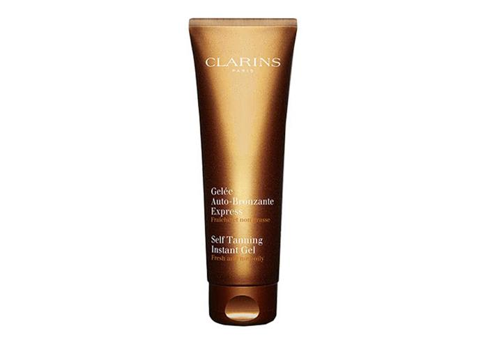 "Self Tanning Instant Gel by Clarins, $40 at [Adore Beauty](https://www.adorebeauty.com.au/clarins/clarins-self-tanning-instant-gel.html?.html|target=""_blank""