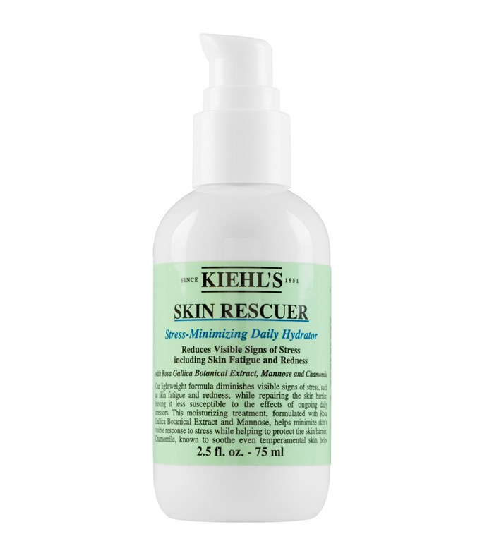 "The combination of Rosa Gallica Botanical Extract, which soothes, and Mannose, which helps recovery, means Kiehl's Skin Rescuer goes a long way to reduce skin stress. <br><br> Skin Rescuer, $55 at [Kiehl's](https://www.kiehls.com.au/skin-rescuer/3605970459888.html#start=7&cgid=face-moisturisers|target=""_blank""