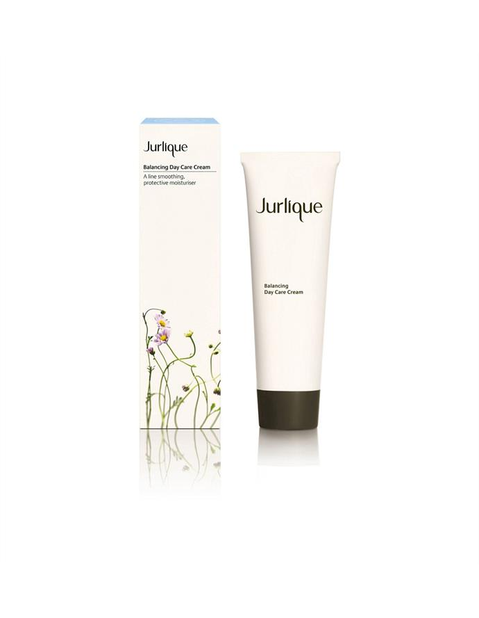 "**Balancing Day Care Cream by Jurlique, $89 at [David Jones](https://www.davidjones.com/beauty/skin-care/face/moisturisers/20503429/Balancing-Day-Care-Cream-125ml.html|target=""_blank""